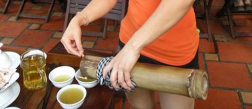 rượu ống tre đặc sản Đắk Lắk