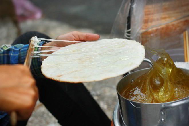 bánh tráng đường mạch nha